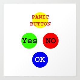Yes No Buttons jGibney The MUSEUM Society Gifts Art Print