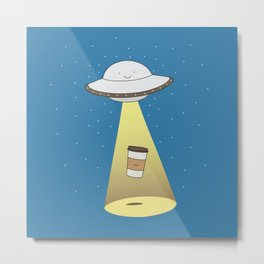 coffee abduction Metal Print