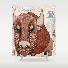 American Buffalo Bison Southwest Southwestern Shower Curtain