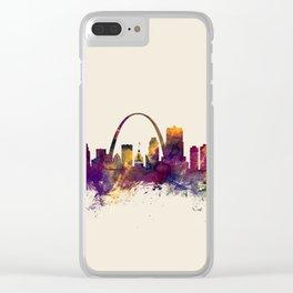 St Louis Missouri Skyline Clear iPhone Case