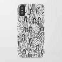 girls iPhone & iPod Cases featuring Girls by leah reena goren