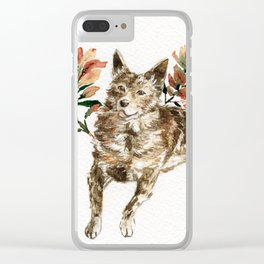 watercolor Taiwan Dog - Tabby Clear iPhone Case