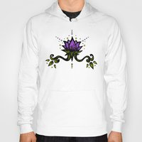 lotus flower Hoodies featuring Lotus by Virginia Skinner