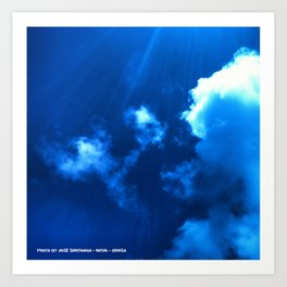 Nuvens de Verão - Foto de José Santhiago - Natal - Brasil Art Print