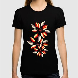 Duo-Toned Leaf pattern 2 (Red) T-shirt