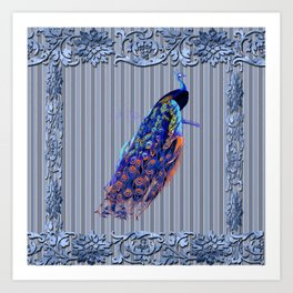 Splendor Peacock Fantasy Victorian Accents Art Print