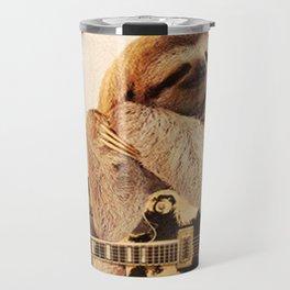 Rock Star Sloth 2# Travel Mug