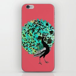 Neon Peacock iPhone Skin