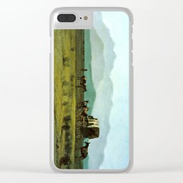 Surveyor's Wagon in the Rockies Clear iPhone Case