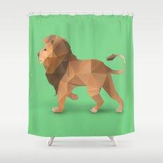 Lion. Shower Curtain