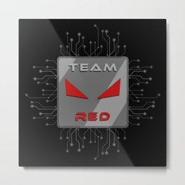 Team Red Metal Print