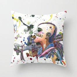 Tank Girl Throw Pillow