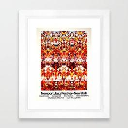 Vintage 1973 Newport Jazz Festival Poster Framed Art Print