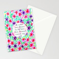 Flowers in my hair Stationery Cards