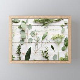Green Botanical Flowers Framed Mini Art Print
