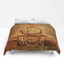 Sand Stone Sitting Buddha Comforters