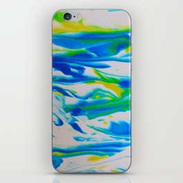 Turquoise Foam iPhone Skin