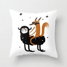 Space Fox Wanderer Throw Pillow