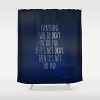 fault in our stars Shower Curtains featuring The Fault In Our Stars by Adel