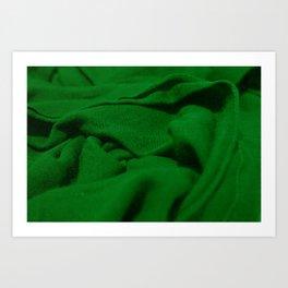 Green Velvet Dune Textile Folds Concept Photography Art Print