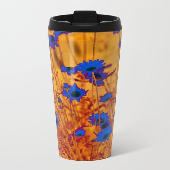 Luminous Daisies Metal Travel Mug
