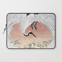 Crane and Wave Laptop Sleeve