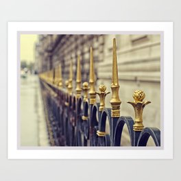 Color Theory, Gold Art Print