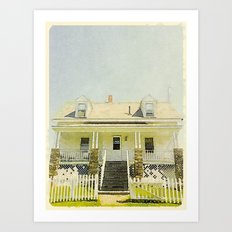 Pemaquid Point Lightkeepers House, Maine Art Print