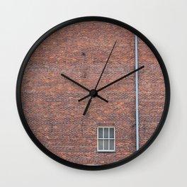 TWO CLOSED WINDOW DOORS Wall Clock