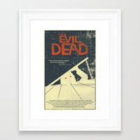 evil dead Framed Art Prints featuring Evil Dead by Mark Welser