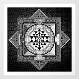 Mandala Sri Yantra Spiritual Zen Indian Bohemian Yoga Mantra Meditation Kunstdrucke