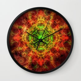 Heart on Fire Wall Clock