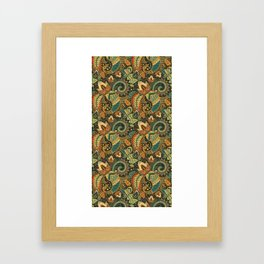 Paisley & Love Framed Art Print