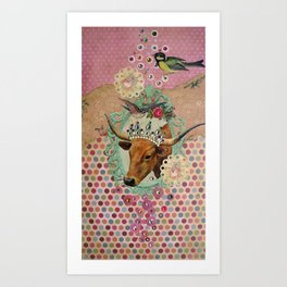 COW GIRLY-GIRL Art Print