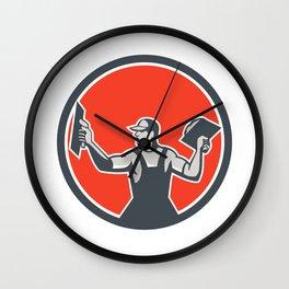 Plasterer Masonry Trowel Circle Retro Wall Clock