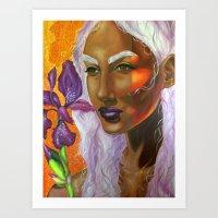 A Spark in the Iris Art Print