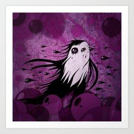 Horizontal Rain Monster Art Print