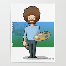 A Happy Little Bob Ross Poster