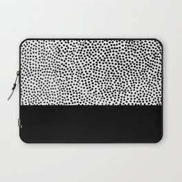 Dots and Black Laptop Sleeve