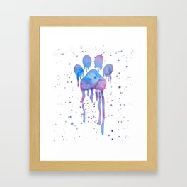 Watercolor Paw Print Framed Art Print