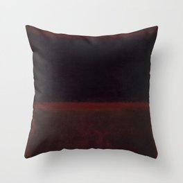1960 Black on Dark Sienna On Purple by Mark Rothko HD Throw Pillow