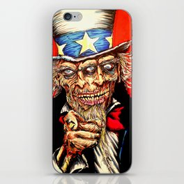 Uncle Zombie Sam iPhone Skin