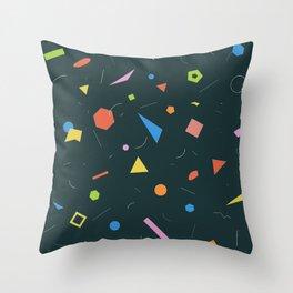 Polygon Soup Throw Pillow
