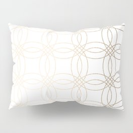 Simply Vintage Link in White Gold Sands on White Pillow Sham