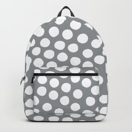 Ultimate Gray White organic dots op-art Backpack