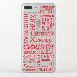 Christmas Typography Clear iPhone Case