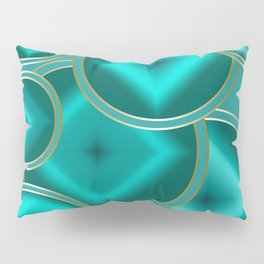 .Bright turquoise abstract pattern. Pillow Sham