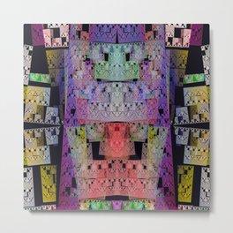 The Escher Factor, modern fractal abstract Metal Print