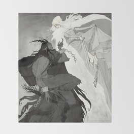 Krampus and Perchta Throw Blanket