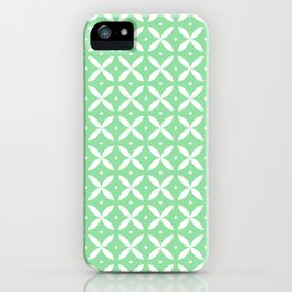 Japanese Stars Pattern Mint iPhone Case